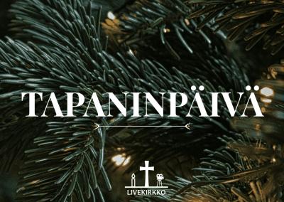 26.12.2019 – Tapaninpäivän jumalanpalvelus Hyvän Paimenen kirkosta