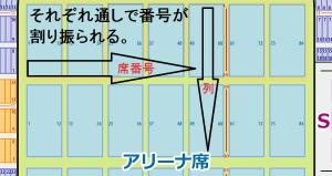 日本ガイシホール 座席表 通し番号