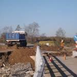 Εργασίες αποκατάστασης οδικού δικτύου στο σημείο της γέφυρας Μπογδάνα