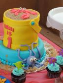 Bucket Cake and Cupcakes