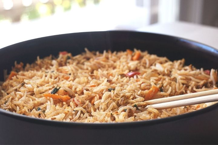 Masala Scrambled Egg Fried Rice