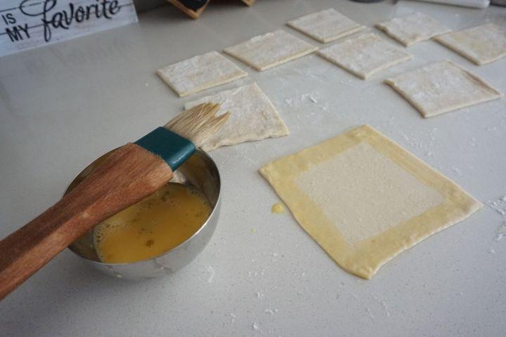 egg wash on 4 sides