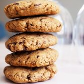 stacked prunes puree chocolate chip cookies