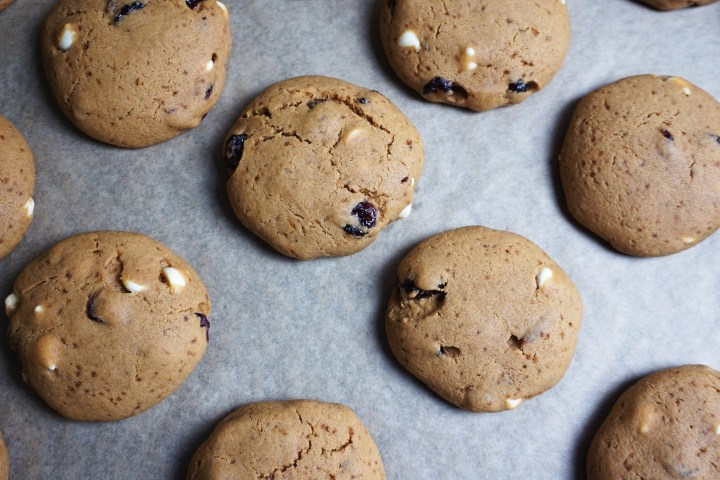 baked cookies on sheet