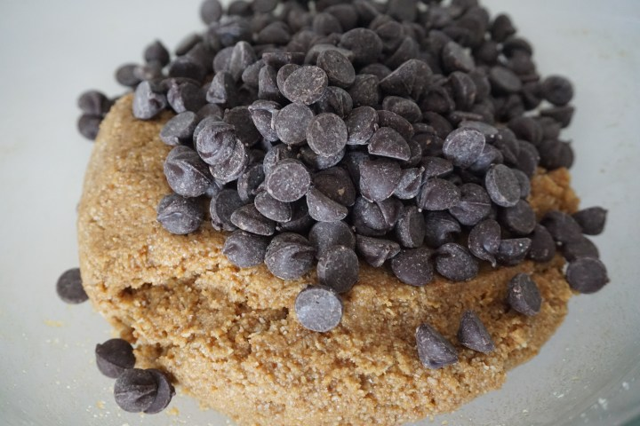 chocolate chips added to dough