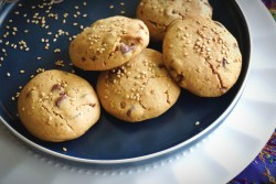 sesame cookies on a plate