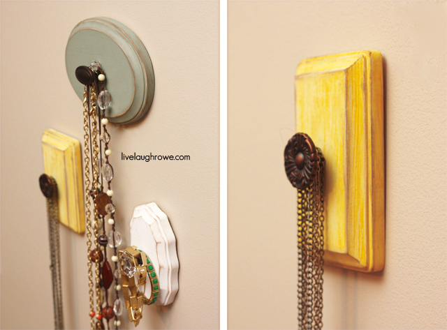DIY Jewelry Holders with livelaughrowe.com