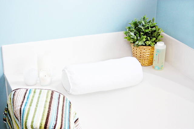 Bathroom Oasis with Fresh New Towels and Bath Salts