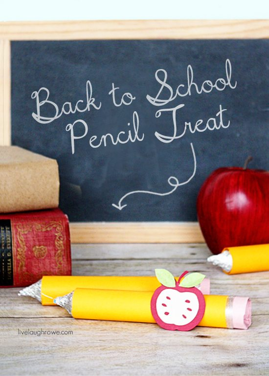 Love it! A Back to School Pencil Treat using Rolo's and Hershey Kisses. Tutorial at livelaughrowe.com