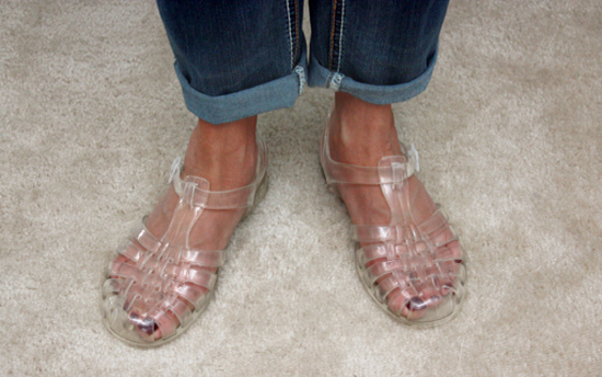 Clear Jelly Beans Sandals with livelaughrowe.com