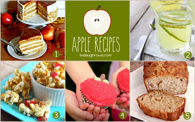 Apple Recipe Features with livelaughrowe.com