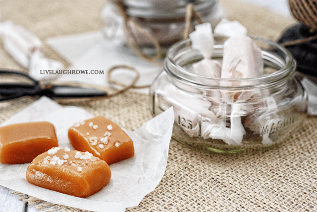 Incredibly simple gift idea! Homemade Salted Caramels