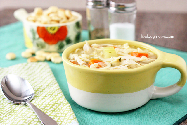 Delicious Chicken Noodle Soup with livelaughrowe.com