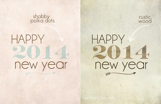 Happy 2014 Printables with livelaughrowe.com #newyearprintables