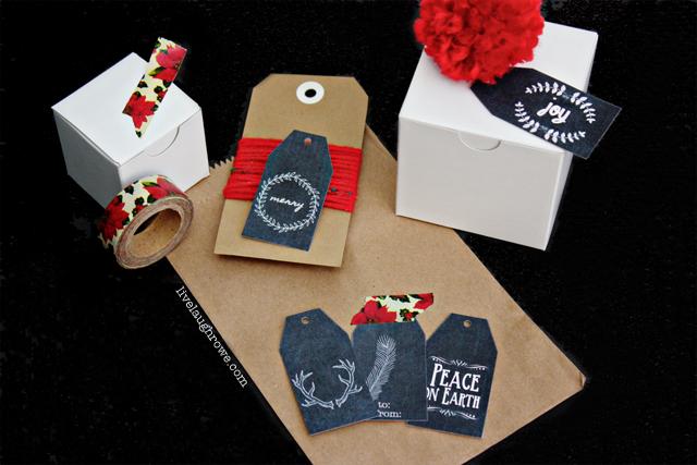 Free Printable Christmas Chalkboard Gift Tags with livelaughrowe.com