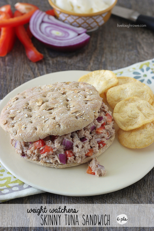 Weight Watchers Skinny Tuna Sandwich with livelaughrowe.com