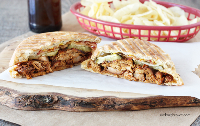Flavorful and mouthwatering Hawaiian Pulled Pork Panini with livelaughrowe.com