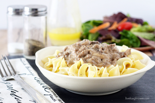 A delicious and light Beef Stroganoff recipe.  Weight Watcher Points=9
