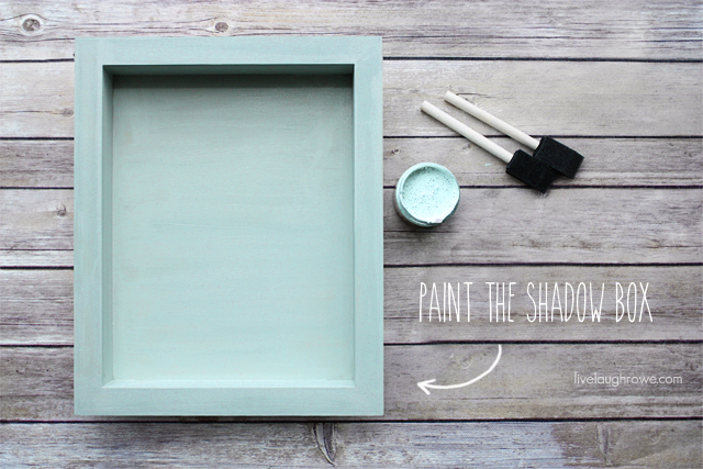 painting the shadow box