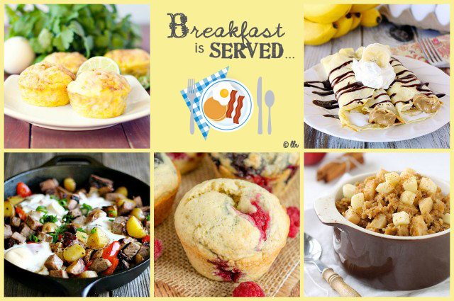 Breakfast is Served with delicious breakfast dishes at livelaughrowe.com