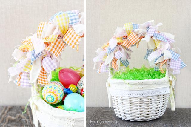 Scrap Fabric Easter Garland Baskets