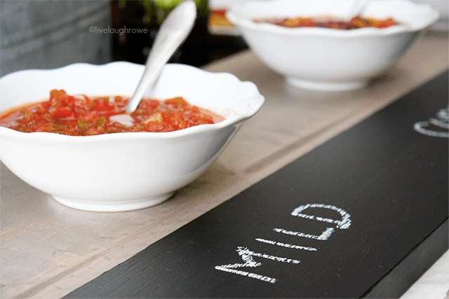 Up Close of Chalkboard Serving Tray at livelaughrowe.com
