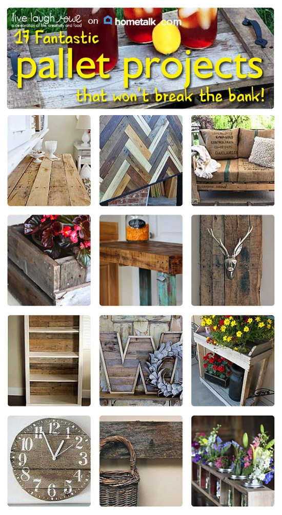 17 Fantastic Pallet Projects that won't break the bank from Hometalk with livelaughrowe.com