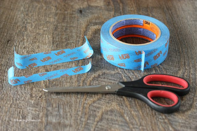 Cutting tape for stenciling.