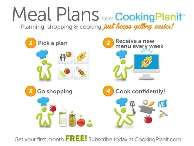 NEW Meal Plans from Cooking PlanIt!  It just keeps getting easier...