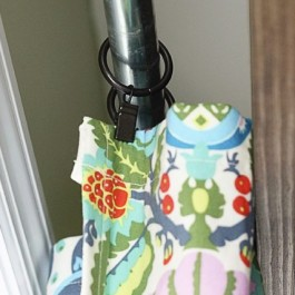 DIY Window Treatment for Sliding Glass Doors for less! These lined curtains are lovely and hung with curtain clips... tutorial at www.livelaughrowe.com