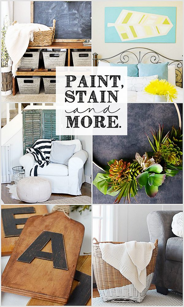 Paint, Stain and More.  DIY Project features at www.livelaughrowe.com
