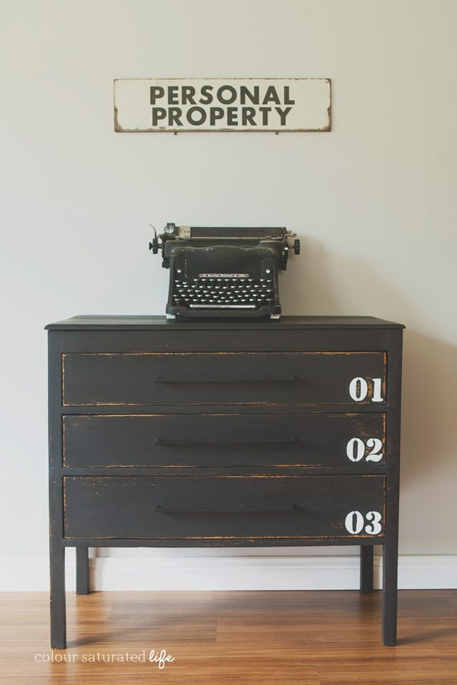 Pottery Barn Industrial Dresser Knock-Off by  Colour Saturated Life