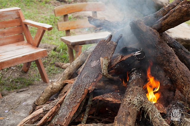Chairs to sit around the campfire!