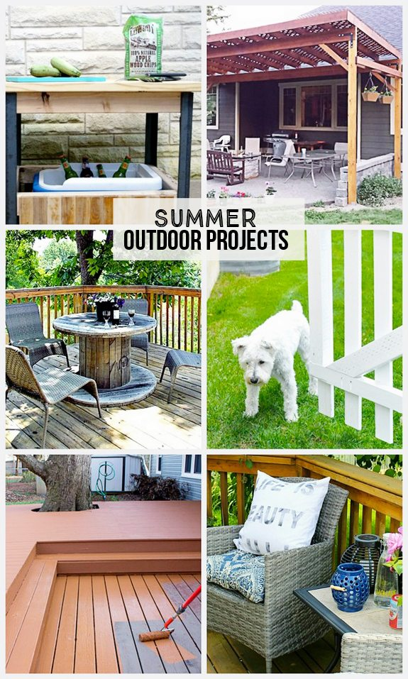 DIY Summer Outdoor Projects  that you could do this weekend!  www.livelaughrowe.com