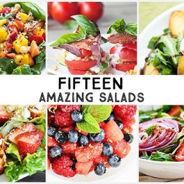 15 Delicious and Amazing Salads to serve up this summer! I don't know about you, but salads are a staple during hot temperatures.
