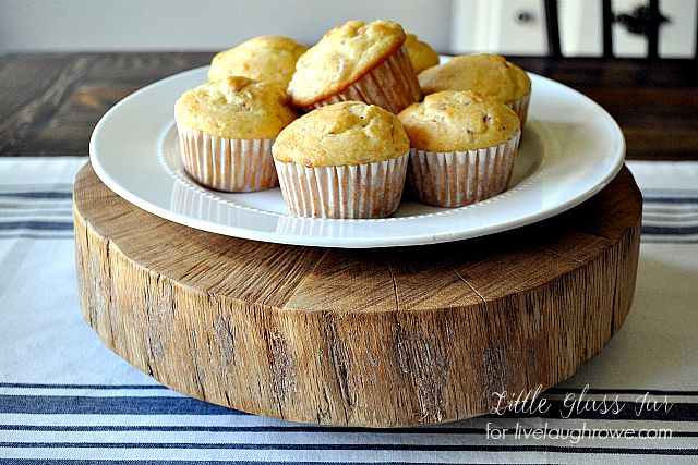 Cake Stand with plate of muffins