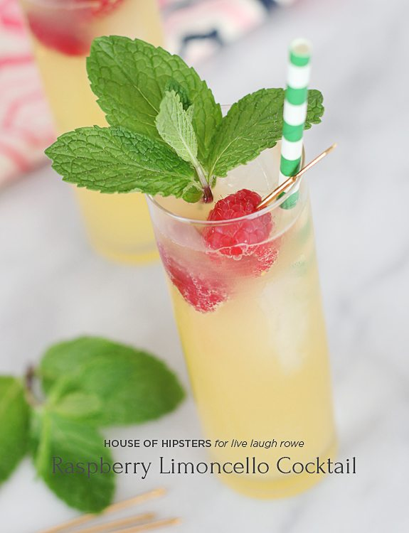 Play a little bartender this weekend and try your hand at this Raspberry Limoncello Cocktail. Perfectly crisp, tart and refreshing on a hot summer night.