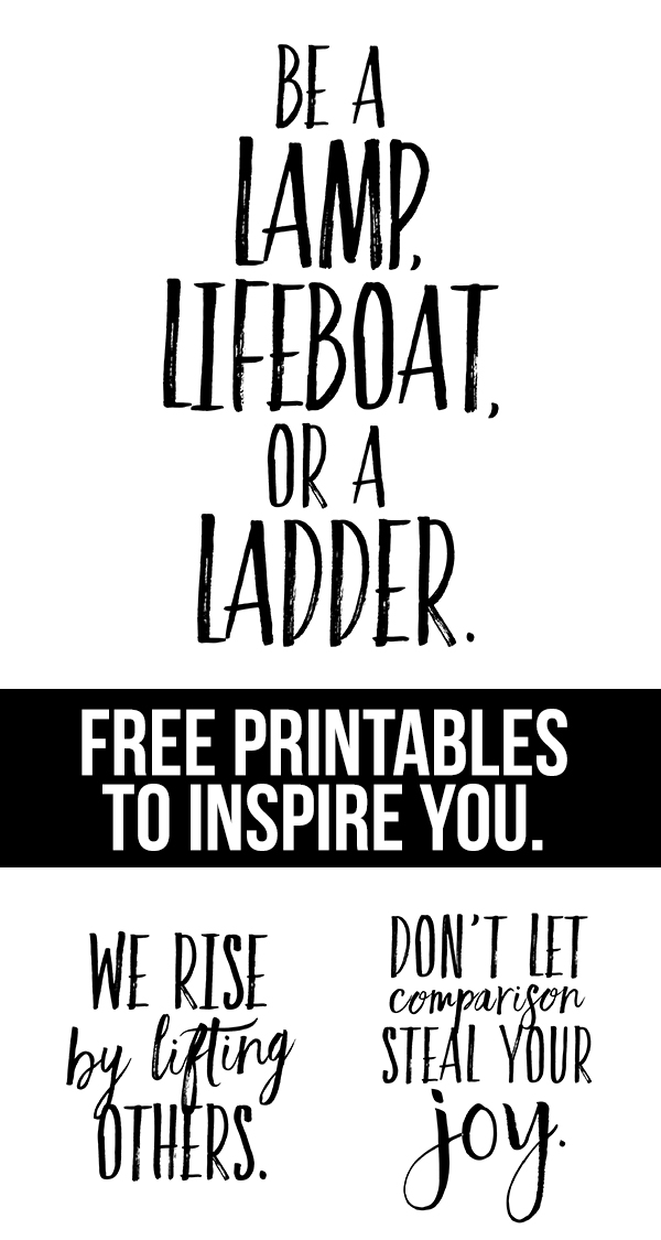 LOVE THESE!! Free printables with inspirational messages that are great reminders. Get one or all three of them at livelaughrowe.com