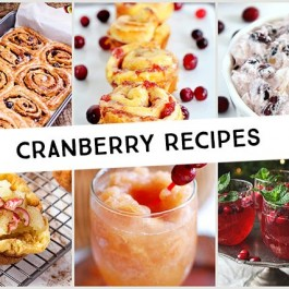 Easy Cranberry Recipes featured at Inspiration2 . Great inspiration for the fall season!
