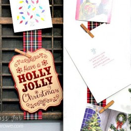 A fun and festive way to display your holiday cards this season by Little Glass Jar!