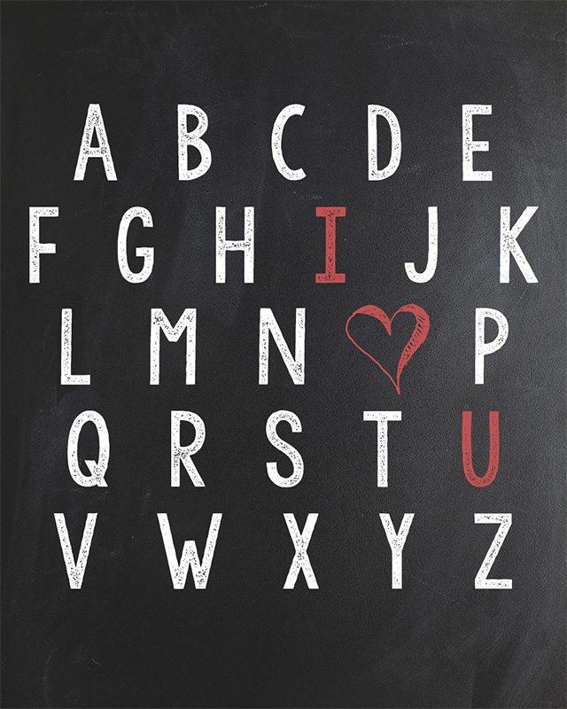 Three Typographic Prints for Valentine's Day!