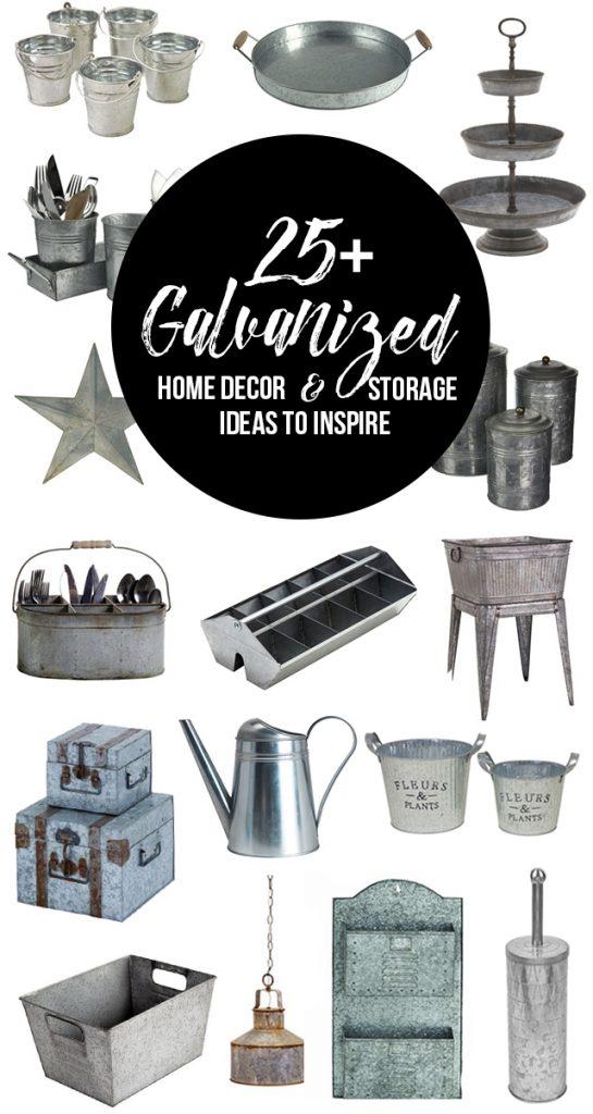 25+ Galvanized Home Decor and Storage Ideas to inspire you! livelaughrowe.com