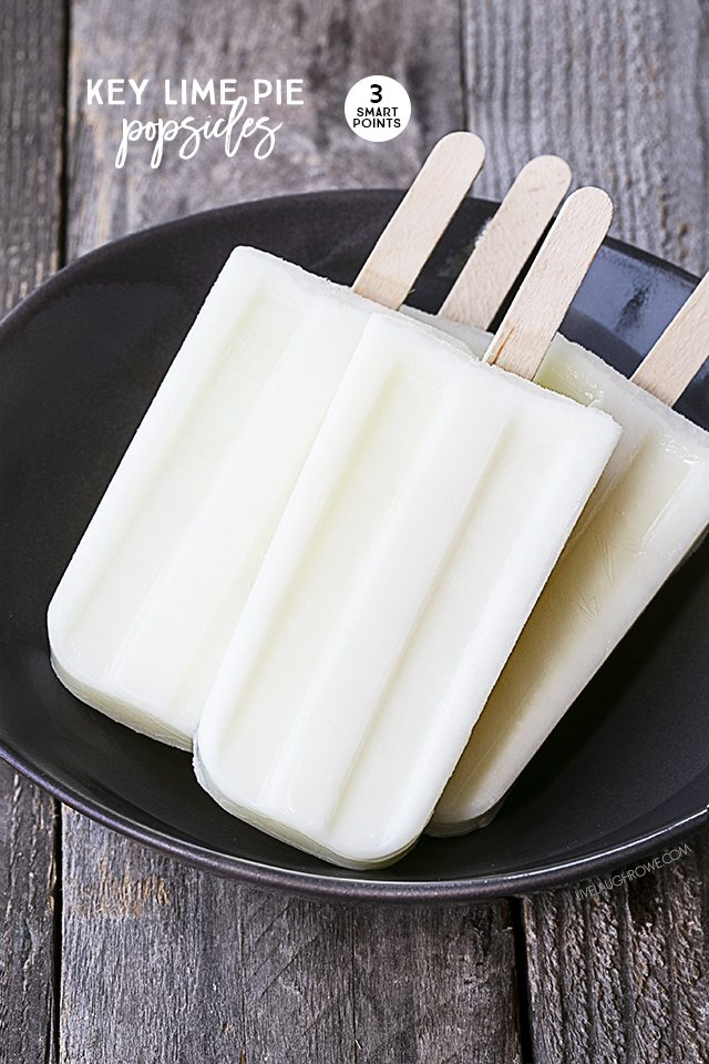 These mouthwatering Key Lime Pie Popsicles are perfectly refreshing on hot summer day! Weight Watchers friendly too, only 3 SmartPoints. livelaughrowe.com