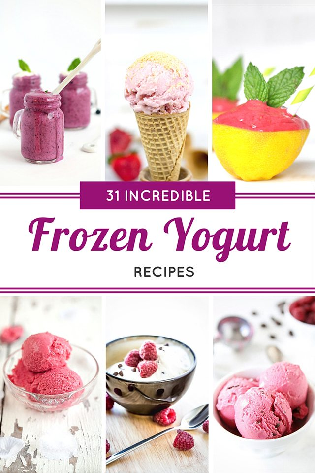 31 Incredible Frozen Yogurt Recipes that will have you cooling off from the heat in no time! livelaughrowe.com