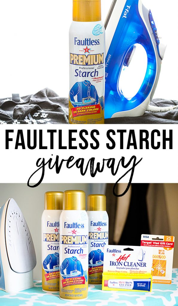 Enter for a chance to win a Faultless Starch Product Pack! Details at livelaughrowe.com #giveaway #StarchThatWorks #ad