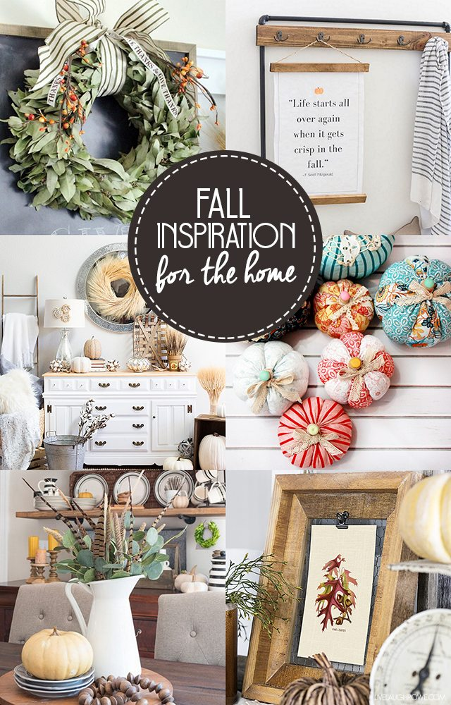 Awesome fall inspiration for the home! Check them out at livelaughrowe.com
