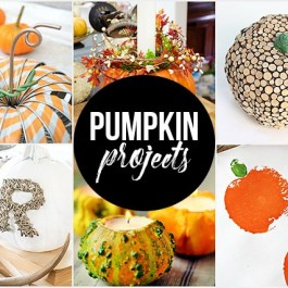 Festive Pumpkin Projects and Crafts to inspire you! livelaughrowe.com