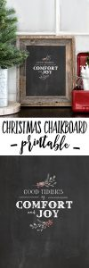 """""""Good tidings of comfort and joy!"""" Be sure to print a copy of this beautiful Christmas Chalkboard Printable. livelaughrowe.com"""