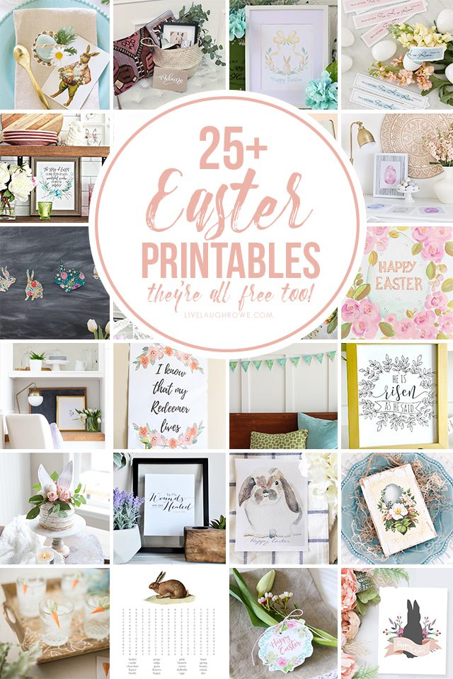 25+ Free Easter Printables -- from wall art to banners to journaling cards, you're sure to find something that is perfectly YOU! livelaughrowe.com