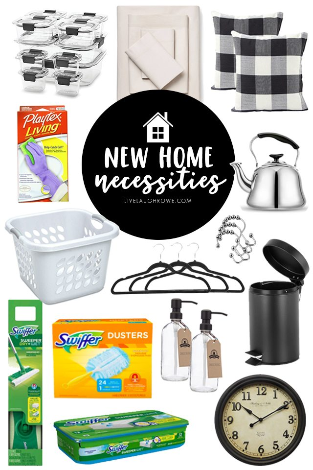 A great resource for those moving into a new home or apartment! This New Home Necessities printable has all the must-haves you don't want to forget. livelaughrowe.com
